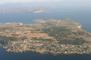 Aerial view of Malta's first Marine Important Bird Area: the Malta-Gozo Channel