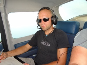 Radio-tracking of Storm Petrels in the aircraft