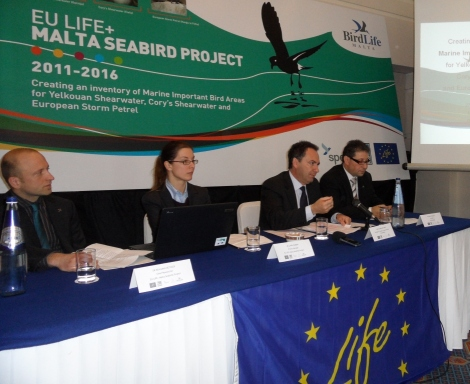 Launch of EU LIFE+ funded Malta Seabirds Project at Phoenicia Hotel in Floriana photo by Danny Schmeits