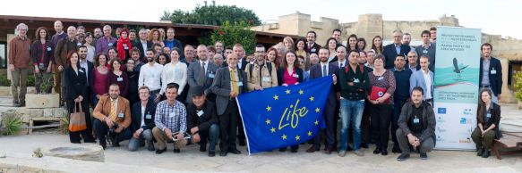Group photo Malta Seabird Workshop