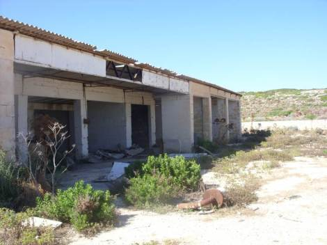 Just one of the Pig farm buildings. Now abandoned. Photo: N. Cox.