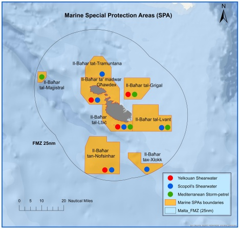 1. Map of the 8 marine Special Protection Areas (SPAs)